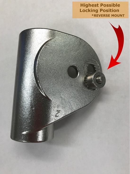 turboswing bracket reverse mounting position
